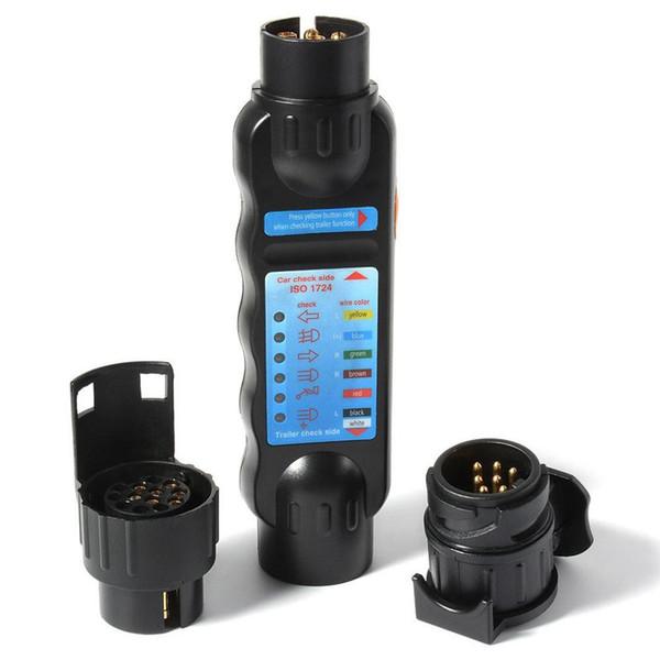 12 V 7Pin Araba Römork Işık Priz Test Kablolama Devre Testi Teşhis Seti