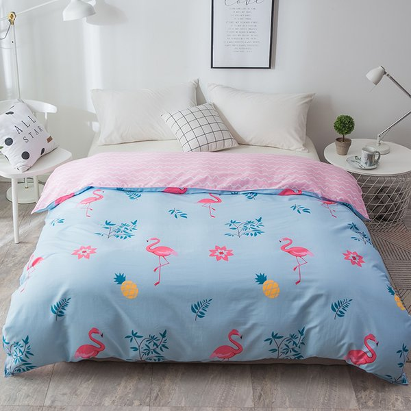 pink blue flamingo pattern new design 1pcs duvet cover quilt cover skin care bedclothes 150x200cm/180x220cm/200x230cm 220x240cm