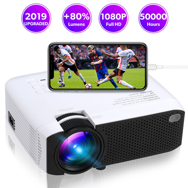 E400S WiFi Mirroring Mini Projector 1600 lms protable movie projector with 30,000 Hrs HDMI USB 3.5mm jack LED Lamp Home projector