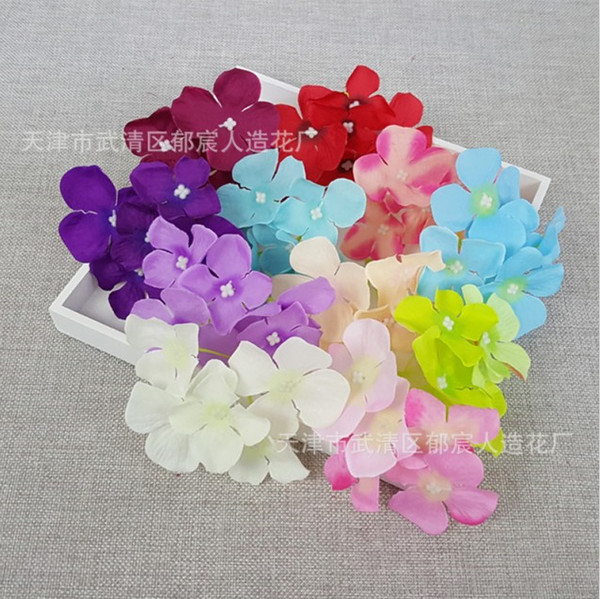 2020 Silk Hydrangea Heads Artificial Flowers Garden Floral Decor