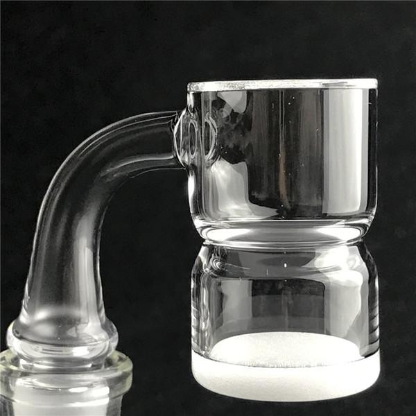 Nuevo 25mm XL Splash Guard Nail Banger Nail con borde biselado Domeless Opaco de cuarzo Cubo inferior 10mm 14mm 18mm para fumar en tuberías de agua