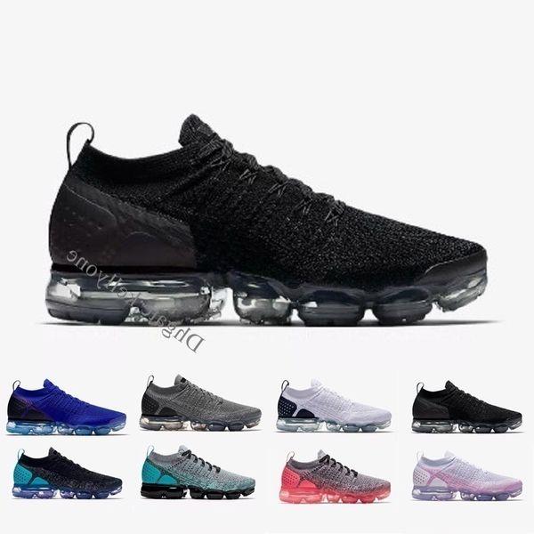 Men Women Air Black White Tennis Sneaker Plyknit Sports Black White Gray All Trainer Running Shoes Maxes Size 36-45