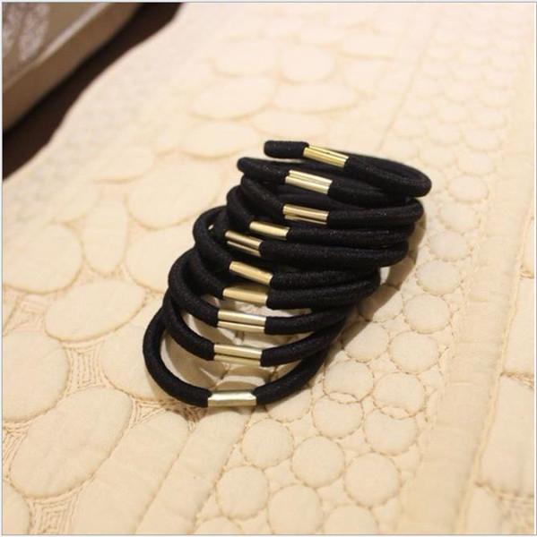 Корейская версия аксессуаров для волос металлическая пряжка ручной основы базы волос кольцо высокой упругой дикой головы веревки