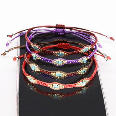 Chaud Style Main Riz Perles Bracelet Mini Perle Bracelets Chaîne Réglable Couple Cadeau Chanceux Bracelet Bracelet de Cheville Bijoux Cadeau Créatif M579Y