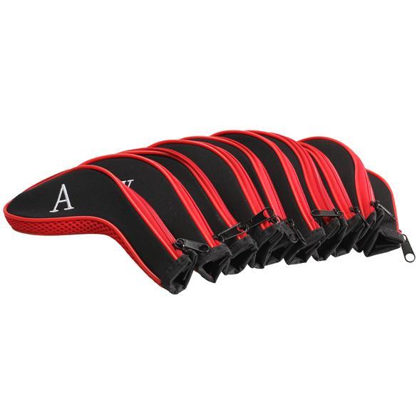 Attrezzo da golf 10 pezzi Golf Club Ferro Putter Coperchi per testa Set di protezioni Neoprene con cerniera Club Head Case Protect Set Accessary