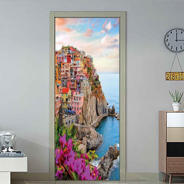 3D Landscape Painting Home Decor Furniture Door Sticker DIY Mural Self adhesive Removable PVC Wallpaper Living Room Background Mural