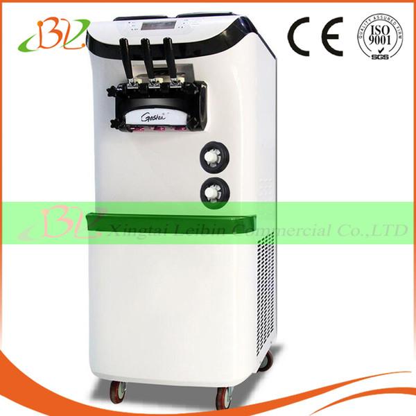 Machine à crème glacée au yogourt glacé avec écran à cristaux liquides Mélangez 3 machines commerciales de crème glacée au service 110V de 110V