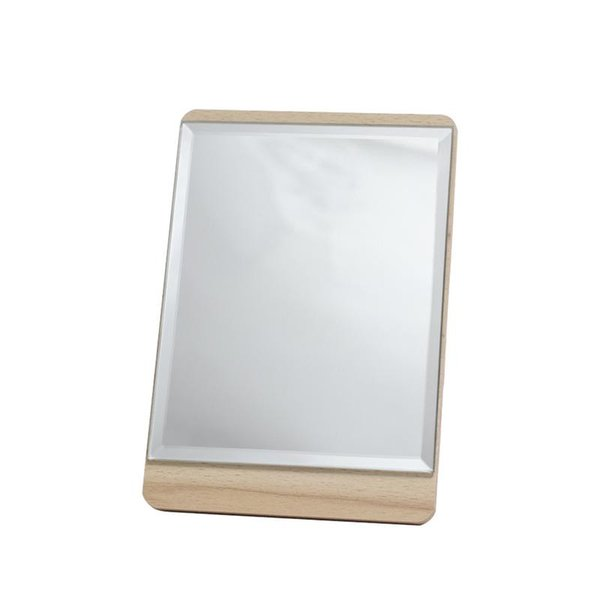 Makeup Mirror Portable Wooden Desktop Dressing Collapsible Rectangular Shaped Mirror Beauty Tools Accessories
