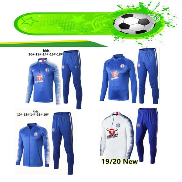 Chelsea 2019 2020 futebol jersey crianças kit fato de treino