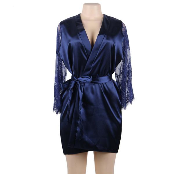 Robe de noche azul
