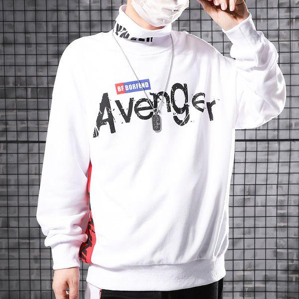 Свободные полувысокые воротнички с принтом на плечо и капюшоном Les hoodies санитарная одежда для мужчин осенью