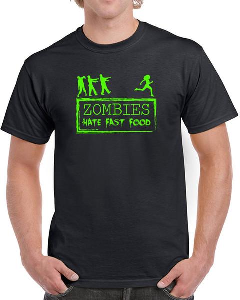 598 zumbis ódio fast food dos homens t-shirt engraçado andar de tv assustador morto assustador tees jersey personalizado camiseta com capuz hip hop t-shirt