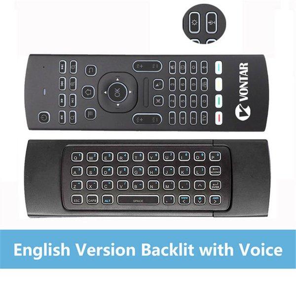 En backlit voice