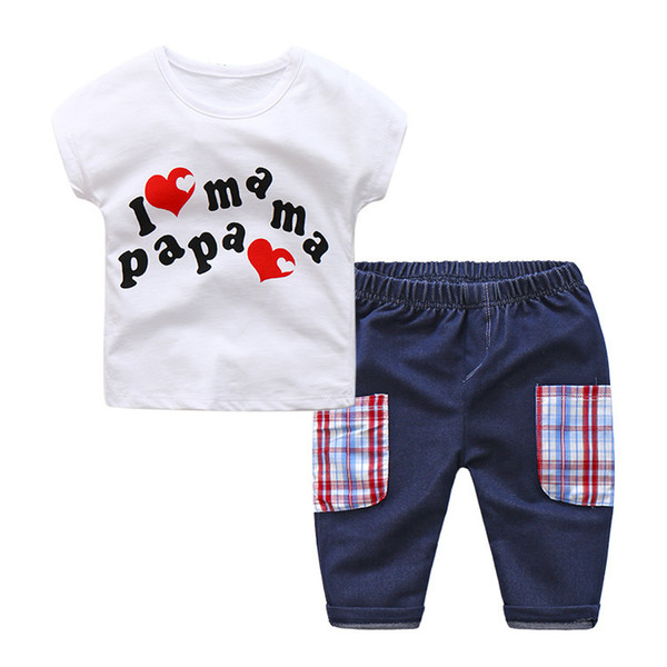 good quality Clothing Sets 2019 Toddler Kids Boys Summer Boy Clothes Short Sleeve T-Shirts+ Shorts Pants Suit Sports Outfits 2pcs