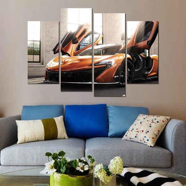 Canvas print painting 4 panels froza mclaren p modern home wall decor framless