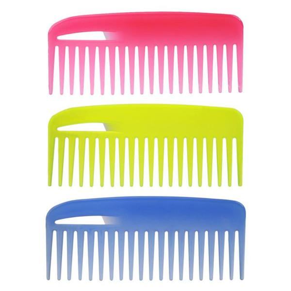 s 19 Teeth Hair Comb PVC Plastic Heat-resistant Large Wide Tooth Hair Comb Detangling Wide Teeth Hairdressing Comb