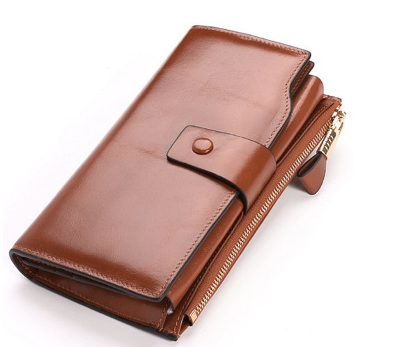 Women Female Genuine Leather Wallet Women's Purse Ladies Long Handbag Phone Bag Credit Card Holder Coin Purse