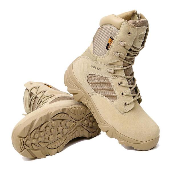 Winter Men's Outdoor Warm Genuine Leather Desert Army Tactical Short Boots Men Camouflage Combat Boots Botas Hombre Sports