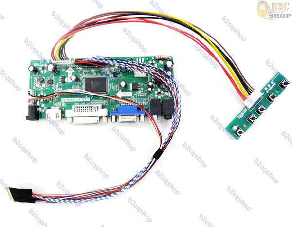 Contrôleur LCD HDMI + DVI + VGA Kit carte pilote pour écran 1366X768 à panneau de 15,6