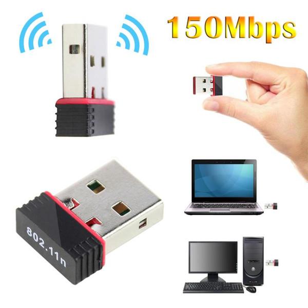 kebidu Mini USB Adaptador Wifi Antena 150 Mbps USB Receptor inalámbrico Dongle Tarjeta de red RTL8188EU Wi-Fi externo para PC al por mayor