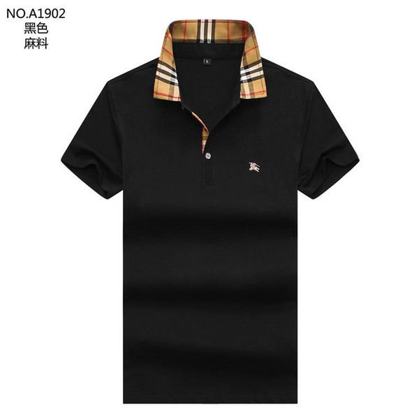 2019 iduzi New brand designers polos men casual polo t shirt snake bee floral embroidery strip polos High street fashion classic polo shirts