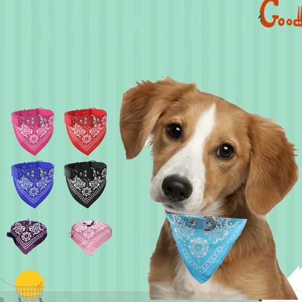 best selling Pet Dog Cat Bandana Scarf Collar Flower Printed Adjustable Doggy Neckerchief Pet Triangle Scarves Hot Sale 3 3kl E1