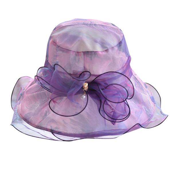Fashion Summer Hat Ladies Wide Brim Straw Floppy Beach Sun Foldable Cap Lot Chapeau Femme Ete2019 Hot Sale #A