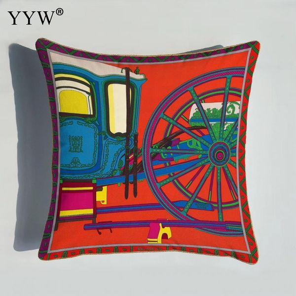 1 pcs Inner Impresso Fronha Europa Geométrica Red Throw Pillow Covers Sem Travesseiros Caso Caso Poszewki Na Poduszki