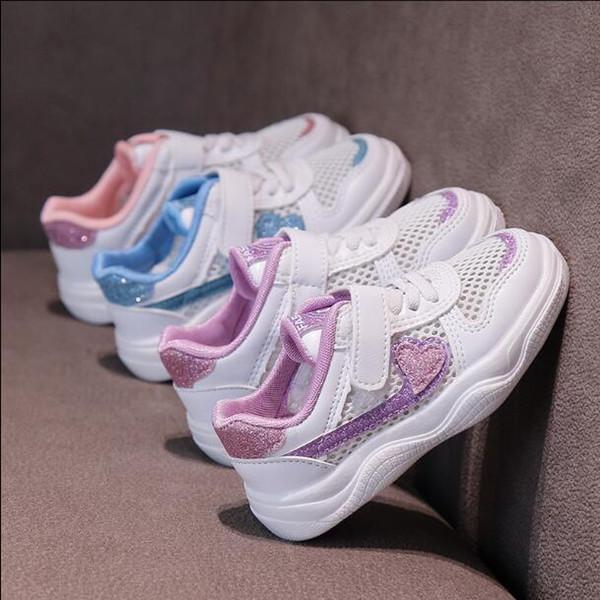 İlkbahar ve Yaz aylarında Erkek ve Kız Çocuklarına Yönelik Yeni Hava Geçirgen Spor Ayakkabı Tipi Toptan ve Perakende Satış 420-10