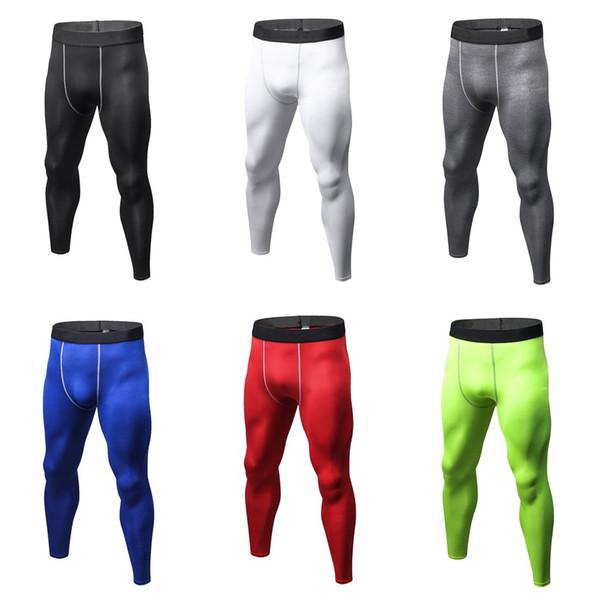 Pantalon de compression pour hommes couleur unie collants Casual Bodybuilding Mans Pantalon Séchage rapide Running Leggings skinny