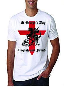 St Georges Günü Gururlu Olmak İngilizce T Gömlek Yetişkin