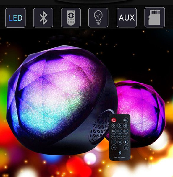LED Bluetooth Speaker Mini Wireless Stereo Portable Magic Ball Colorful Light Support TF Card Bass Subwoofer Speakers For Phone MP4