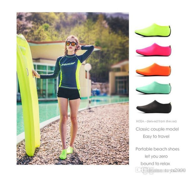 Beach Water Sports Scuba Diving Socks 5 Colors Swimming Snorkeling Non-slip Seaside Beach Shoes Breathable Surfing Socks Sand Play DHL 11