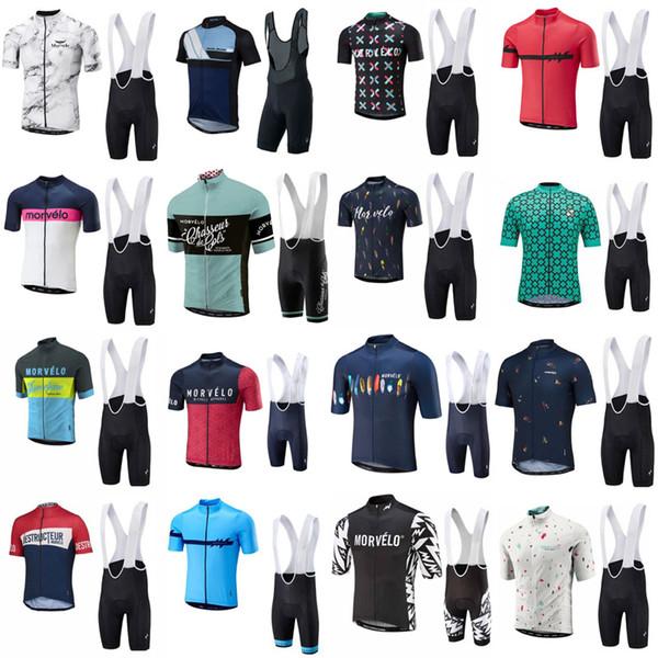 Morvelo команда на заказ Велоспорт с коротким рукавом Джерси нагрудник шорты наборы летние мужские спортивные езда с коротким рукавом джемпер шорты набор S62126