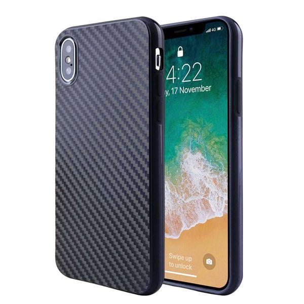 Caso di griglia retrò nero di lusso TPU per iPhone X caso per iphone 8 6 5 moda semplice copertura