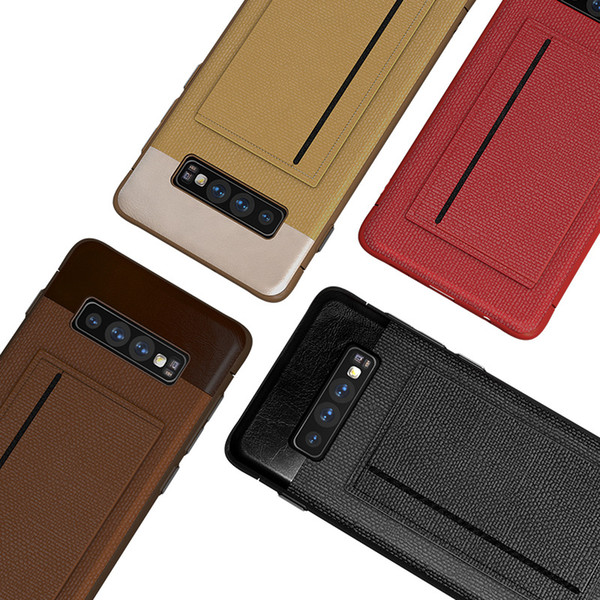 Card Holder PU Leather Cell Phone Cases For Iphone XS Samsung Galaxy S10 Plus Xiaomi Mi9 Huawei P30 Mate 20 Pro Kickstand Case