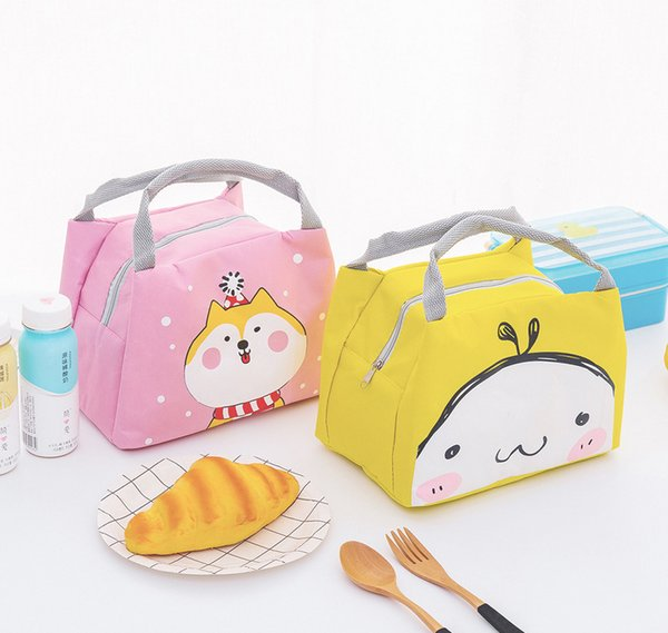 1fashion Portable Cartoon Thermal Cooler Insulated Waterproof Lunch Carry Storage Picnic Bag Pouch Lunch Bag For Women Kids