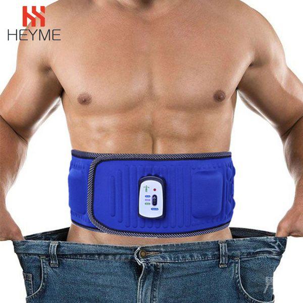 wholesale Slimming Belt Electric Vibration Heating Massage Machine Waist Exercise Leg Belly Fat Burning Weight Loss Belt A