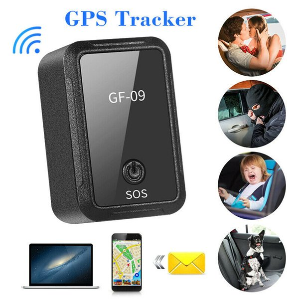 New GF-09 GPS Tracker Mini Vehicle Strong Magnetic Free Installation GPS Tracking Locator Personal Tracking Object Anti Lost Tracker