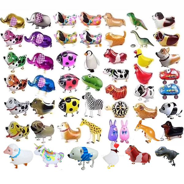 best selling Walking Pet Balloons Animal Helium Aluminum Foil Balloon Balloons Automatic Sealing Balloon Toys Birthday Party Decoration C406