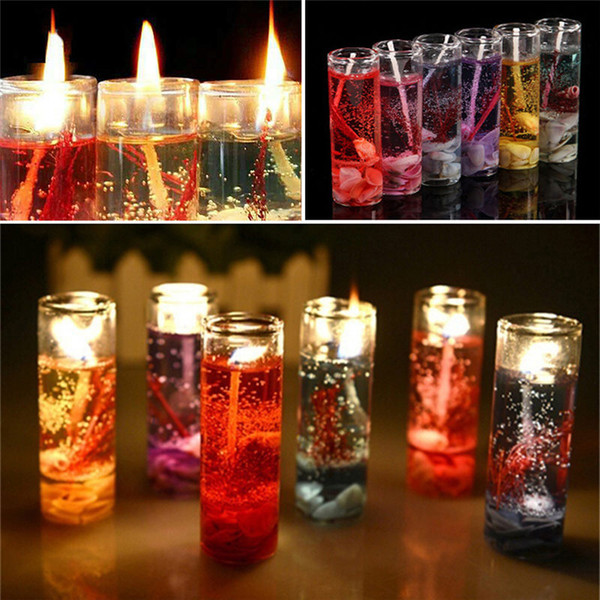 best selling Crystal Glass Candle Holder Romantic Wedding Bar Party Decor Candlestick Ocean Shells Valentines Scented Jelly Candle