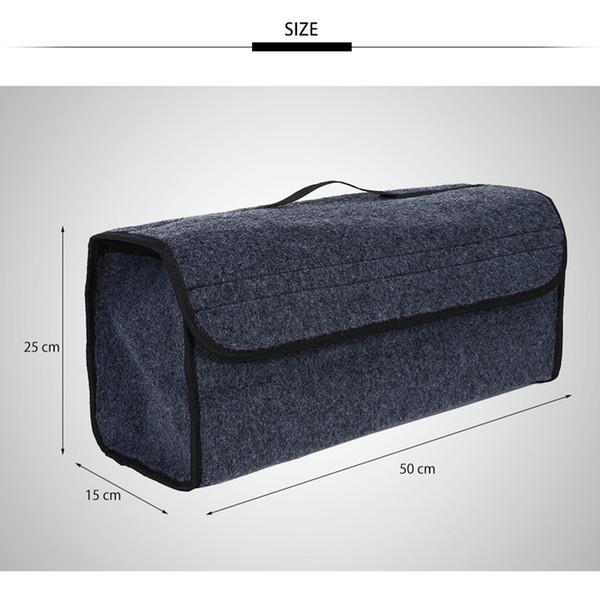 Portable Foldable Multipurpose Car Felt Cloth Folding Storage Box Organizer Case Auto Interior Tidying Container Bags Box