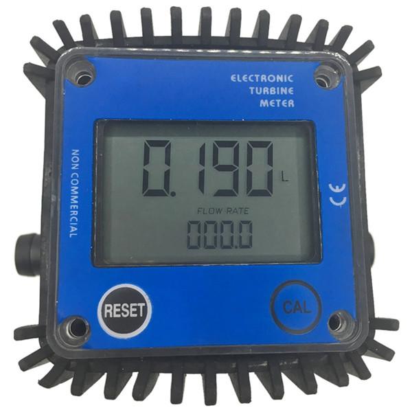 Medidor de flujo de sensor de turbina líquida de aceite de agua de plástico de tamaño rápido Smalle tamaño K24