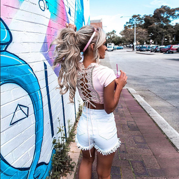 6 Colors High Street Women Denim Shorts Fashion High Waist Pencil Jeans Tassel Hem Skinny Mini Shorts 5 Buttons Decor Hot Pants