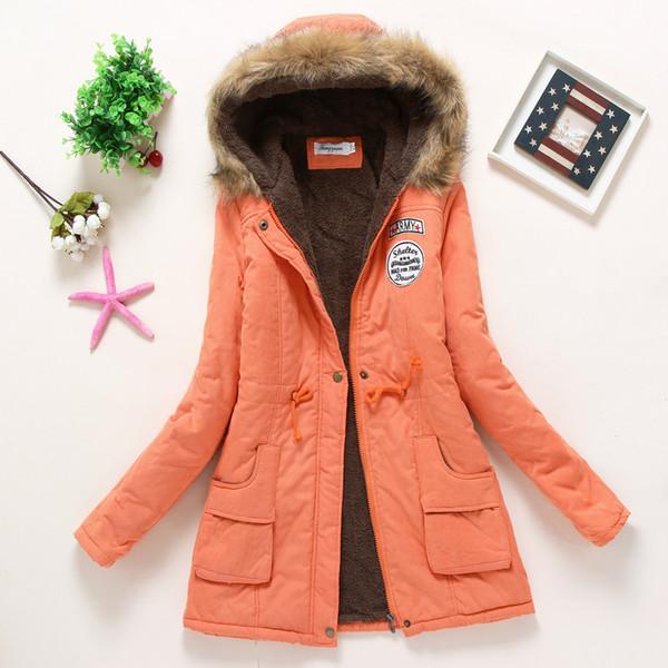 Para mujer de la chaqueta del diseñador abrigos nueva llegada de las mujeres del invierno caliente de la capa Conservar con chaqueta de piel de lujo con capucha estilo largo de Coats tamaño S-3XL