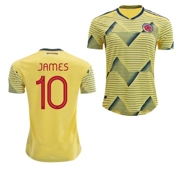 Kolombiya JAMES home away FALCAO futbol Forması 19 20 CUADRAD AGUILAR GUARIN C.SANCHEZ Kolombiya ulusal Amerika Kupası futbol formaları 2019