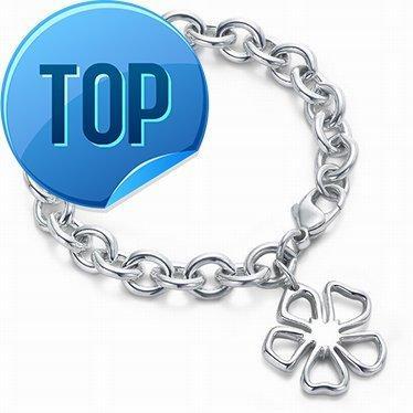 High Quality Celebrity design Silverware Silver Chain bracelet Women Letter Flowers Clover Bracelets Jewelry With dust bag Box
