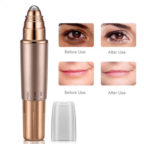 Elétrica Aquecida Olhos Lábio Massageador Rolo Massageador Rugas Remoção Lifting Anti-envelhecimento saúde e beleza ferramentas