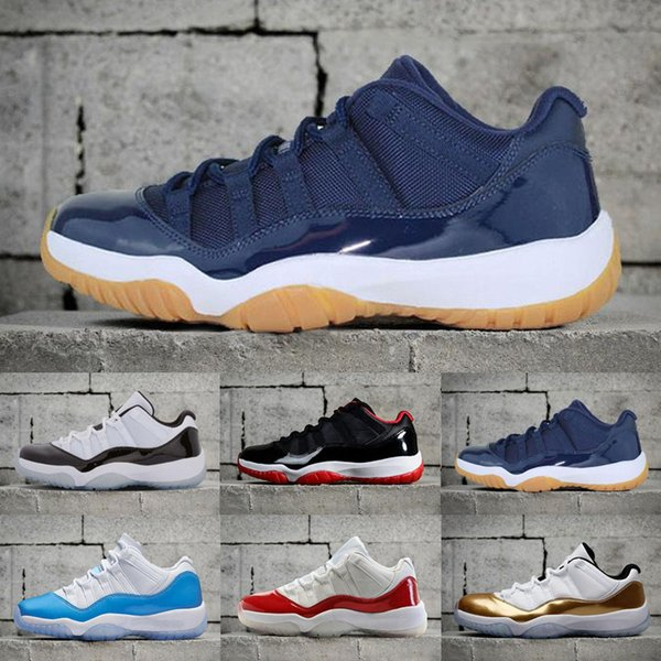 top popular 11 LOW Bred IE COBALT Concord NAVY GUM blue moon Georgetown Retro Basketball Shoes 11s Sneaker XI Closing Ceremony Sports Shoes Athletics 2021