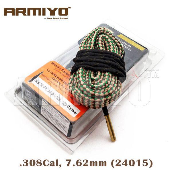 top popular Armiyo .30Cal 7.62mm .308 .30-06 .300 .303 Cal Gun Snake Barrel Brush Cleaner Rifle Bore Cleaning Sling 24015 Hunt Accessories 2020